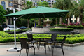 3x3 meter outdoor sun umbrella parasol garden furniture cover patio sunshade 360 degrees rotation( no stone base )