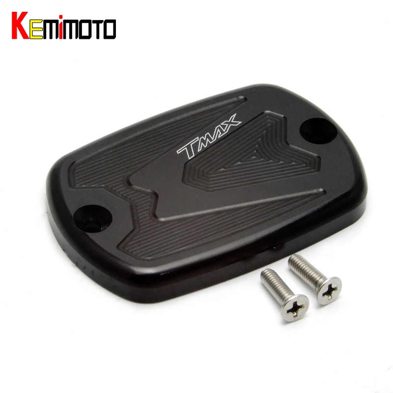 KEMiMOTO Tmax 530 500 CNC Brake Fluid Reservoir Cap Cover For Yamaha T Max T-Max 500 2004-2011 Tmax 530 2012 2013 2014 motorcycle cnc front brake fluid reservoir cap cover for yamaha t max 530 500 tmax530 xp530 2012 2016 tmax500 xp500 2008 2011