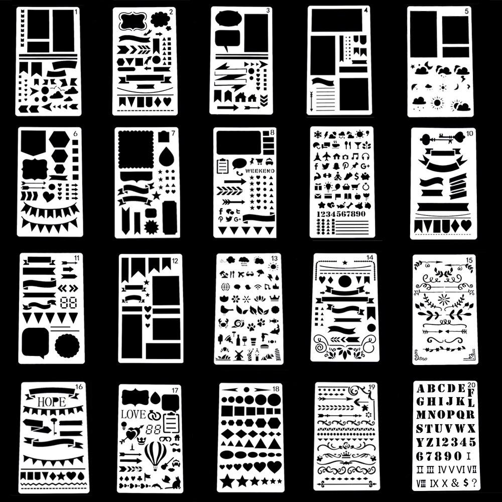Eno Greeting Soft Plastic Stencil Sheets Drawing Airbrush