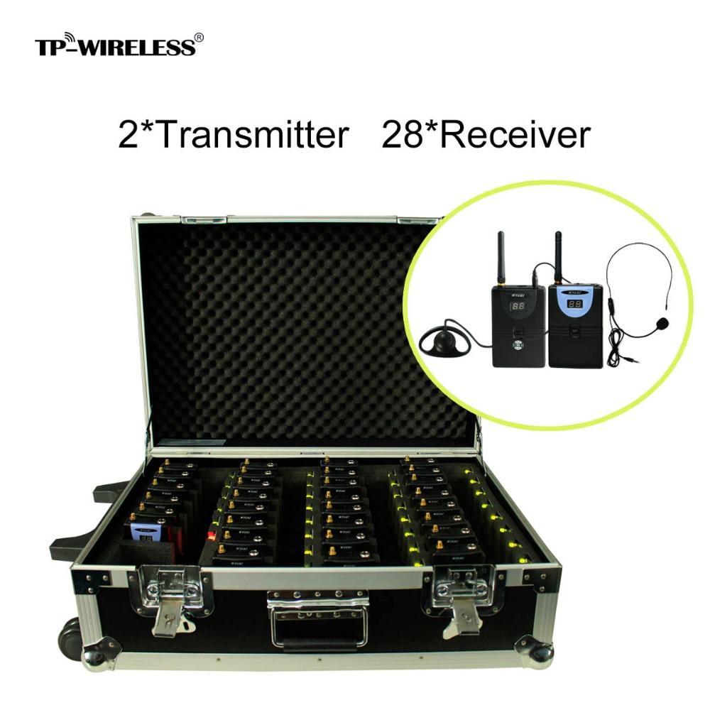 TP-Wireless Marca Portable Pull Rod 2.4GHz Sistema de guía de viaje - Audio y video portátil
