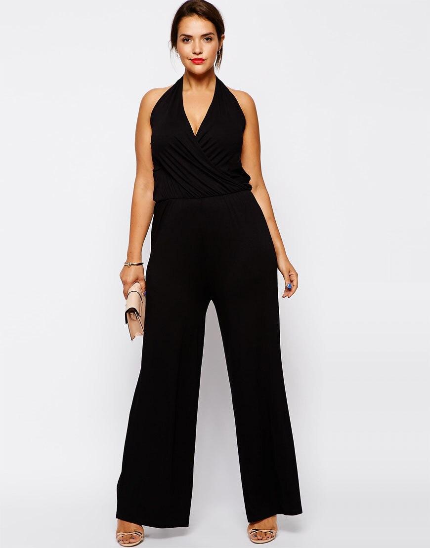 9ce82d273 زائد حجم النساء حللا 6XL أكمام النساء السروال القصير الأسود الرسن بذلة  كبيرة كبيرة الحجم سيدة الصيف الملابس 5XL 4XL الملابس