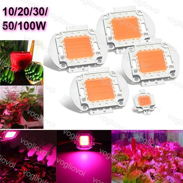 Vogliovoi LED Grow Lights COB Chip 10W 20W 30W 50W 100W Full Spectrum For Grwon Lights Greenhouse Grow Tent Plants Flower DIY
