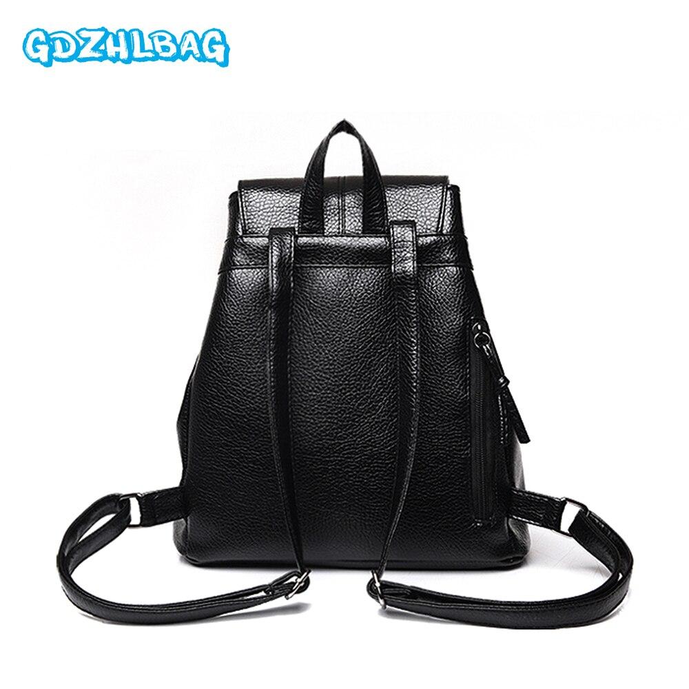 GDZHLBAG New Fashion Women Backpack Female Leather Womens Backpacks Bags Travel back pack Multi-purpose Shoulder bag