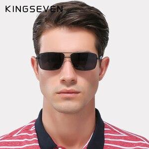 Image 3 - KINGSEVEN מותג עיצוב מקוטב משקפי שמש גברים גוונים זכר בציר משקפיים שמש לגברים Spuare מראה קיץ UV400 Oculos