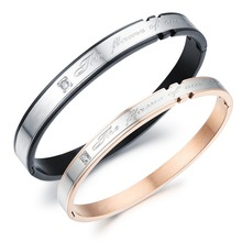 High quality titanium steel fashion jewelry Beautiful crystal men and women