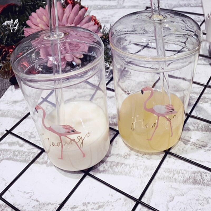 Varm Resi Flamingo Borosilikatglas Kärlsallad Masonburkar med - Hemlagring och organisation