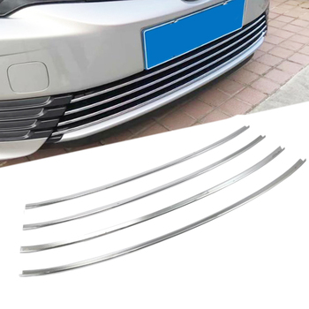 For Toyota Corolla 2017 2018 Car ABS Chrome Front Racing Grille Cover Trim Exterior Accessories Front Grille Cover Trims 4pcs grille