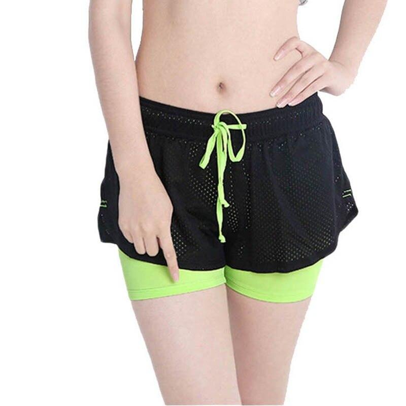 Womens Yoga Short Pants Fitness Leggings Running Gym