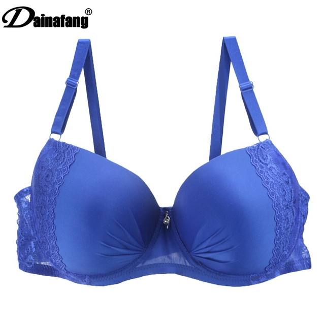 45354fc48 DAINAFANG New plus size mulheres sexy lingerie Push Up Sutiã de Renda  grandes Senhoras De Roupa
