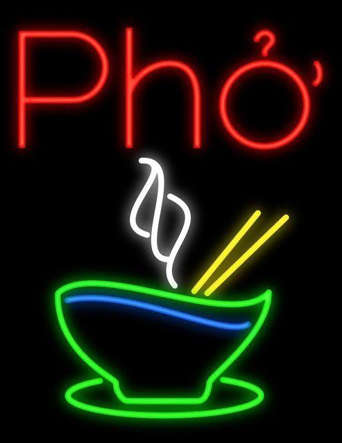 Pho Glass Neon Light Sign Beer Bar