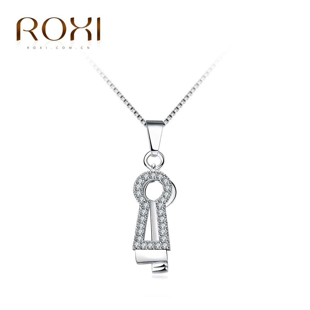 ROXI Brand Necklace For Women Color  Retro Fate Lock Necklace Pendant For Girls Body Jewelry Choker Cheristmas Gift