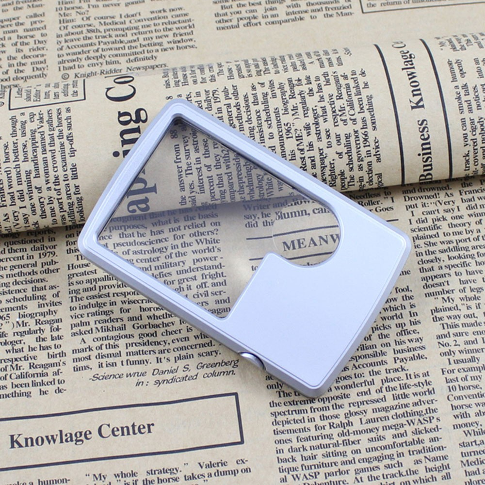 Decorative Mirrors Beautiful Pocket Ultra-thin Card Reading Magnifier Loupe Lamp 3x/6x Mirror With Led Light Magnifying Tool Lupas De Aumento