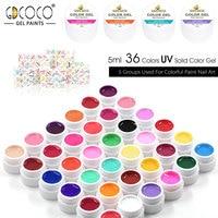 20204 2016 Nail Salon Use CANNI 36 Color Pure Color Uv Gel Kit Uv Color