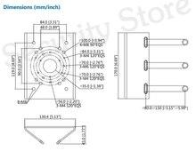 Dahua PFA150 Pole Mount Bracket For DH Dome Bullet PTZ Camera: SD6C230U-HNI IPC-HFW1320S IPC-HDW1320S SD29204T-GN