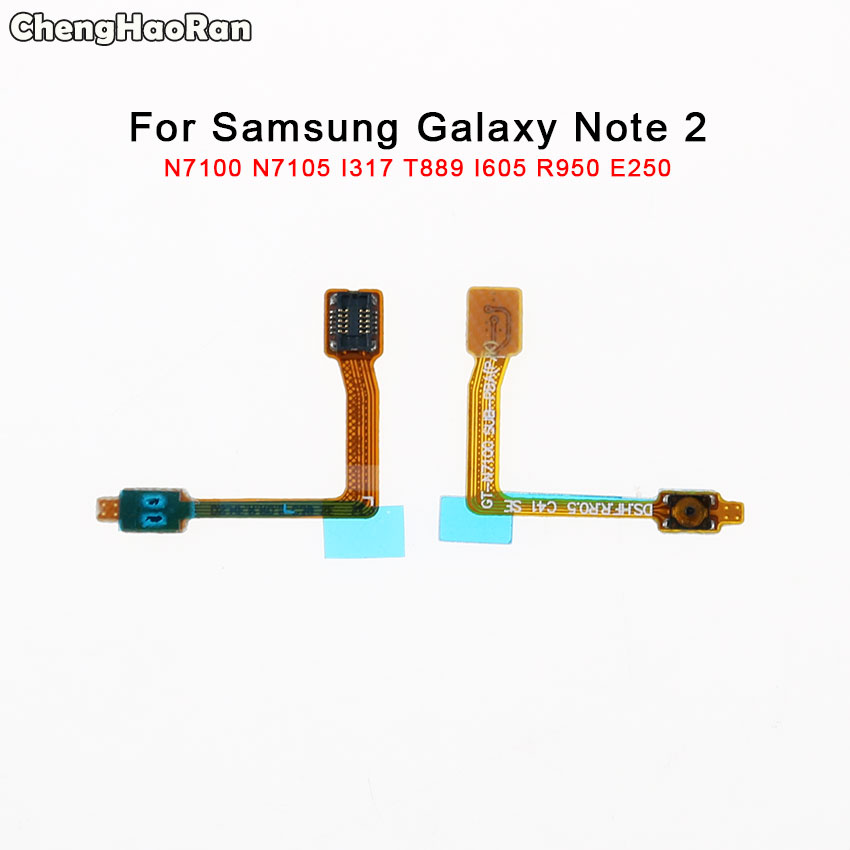 ChengHaoRan Power Button On / Off Switch Flex Cable For <font><b>Samsung</b></font> Galaxy Note 2 N7105 N7100 GT-N7100 I317 T889 I605 L900 R950 <font><b>E250</b></font> image