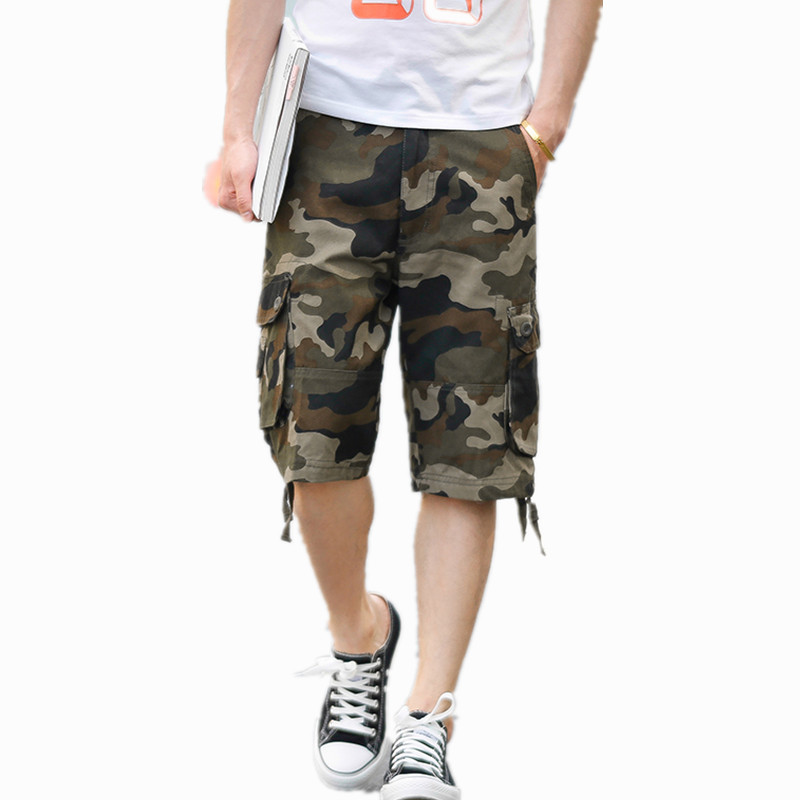 2020 New Summer Camouflage Cargo Shorts Men Loose Men's Plus Size  Military Trousers Casual Short Pants