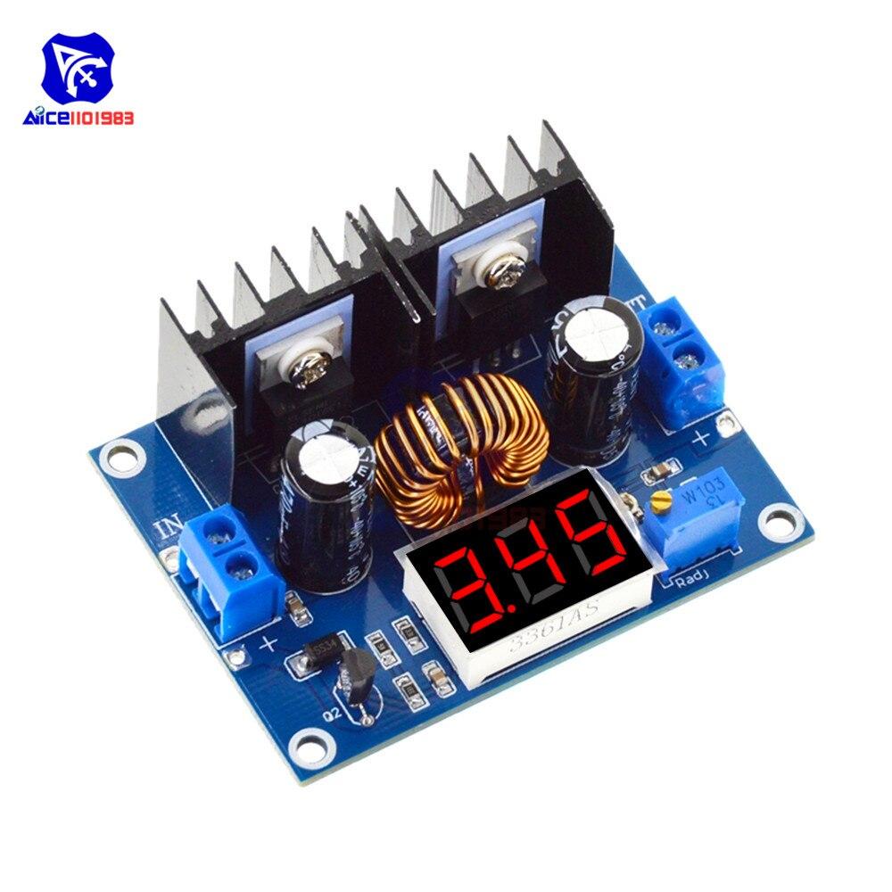 XL4016 8A 200 Вт 3-битный цифровой светодиодный вольтметр ШИМ Регулируемый понижающий преобразователь модуль DC-DC модуль питания
