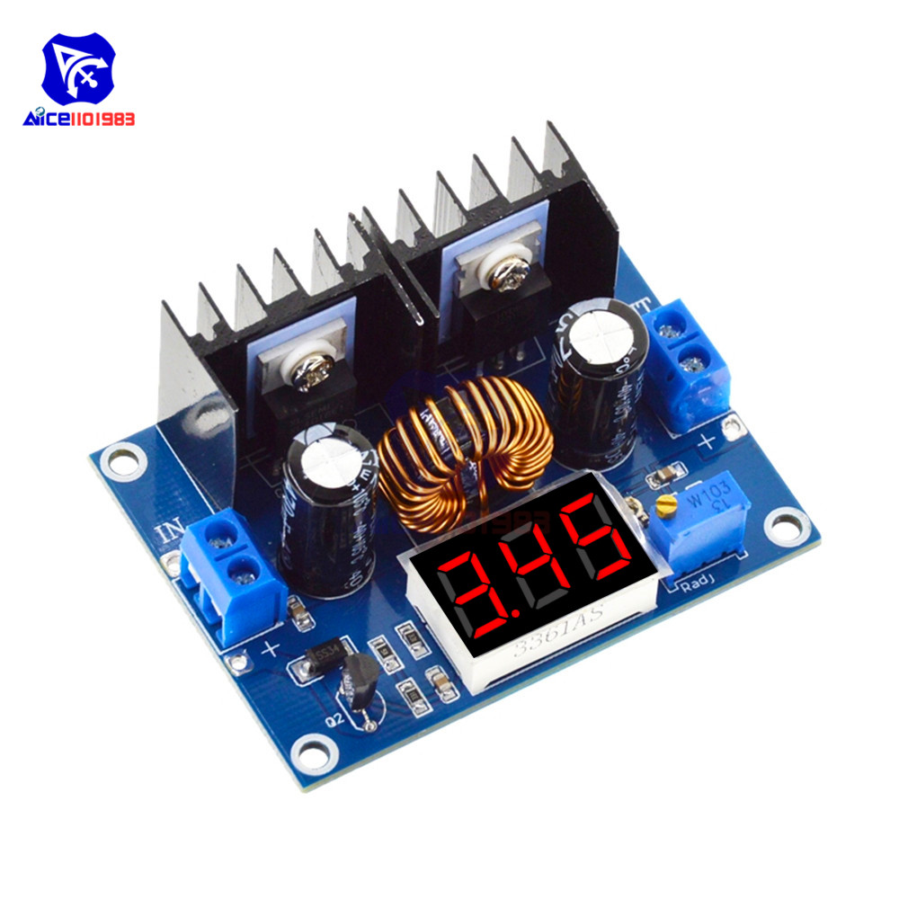 XL4016 8A 200W 3 Bit Digital LED Voltmeter PWM Adjustable Step-Down Buck Converter Boost Module DC-DC Power Supply Board Module