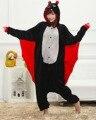 Симпатичные Бат животных Пижамы домашняя одежда Зима теплая Пижамы халат мультфильм косплей pijamas unisex взрослых фланелевые Onesies женщины набор