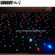 Free Shipping 2m*4m Led Star Curtain Led Star Cloth Dj Backdrop Starcloth For Wedding Decoration to China Warehouse For Sam