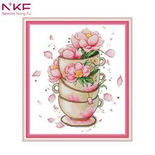 NKF cross stitch dmc kit for embroidery printed on canvas pattern counted print DMC 14CT 11CT needlework