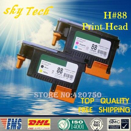 One set 2 pcs Remanufactured Print Head For HP88 , C9381A C9382A For Hp Hp Officejet Pro K550 K5400 K8600 L7480 L7580 L7590 чернила inksystem для фотопечати на hp officejet k8600 dn фоточернила