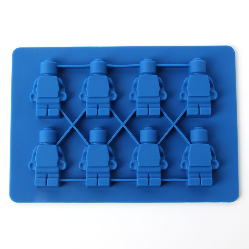 1 Unids Hornear Cuadrado Forma de Ladrillos de Juguete Lego Ice Cube Mold Molde