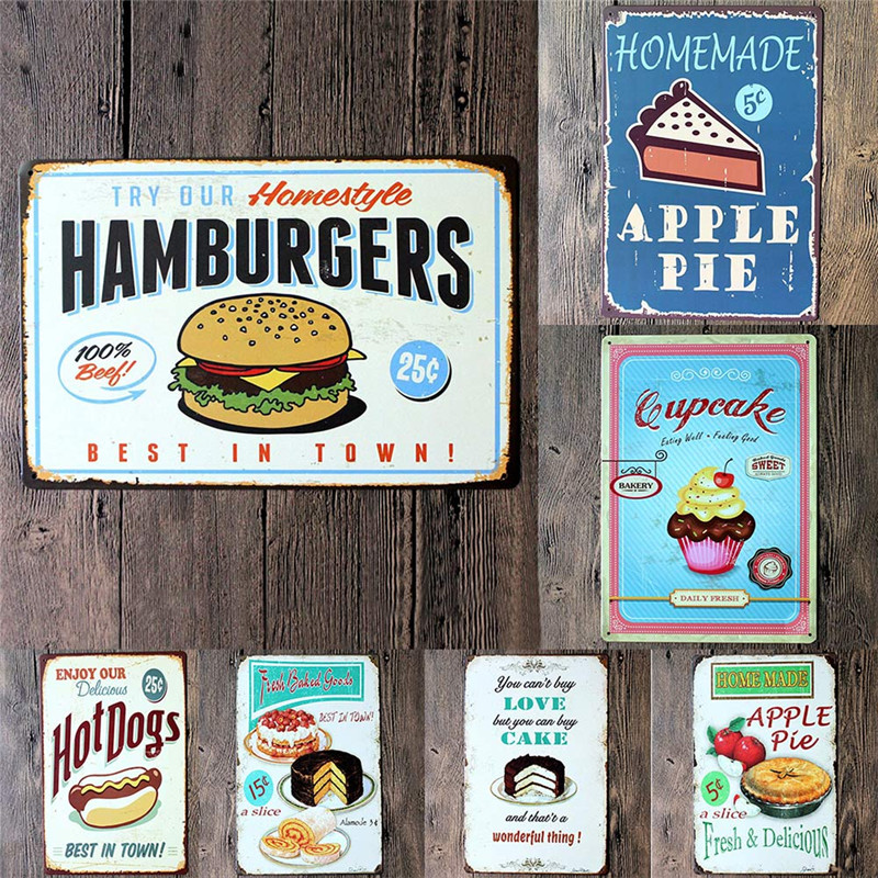 food painting iron panel 20 30cm metal stickers tin signs club gallery poster vintage plaque. Black Bedroom Furniture Sets. Home Design Ideas