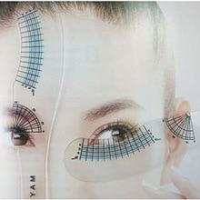 12pcs maquillaje Eyelash ruler measure Beauty ruler eyelash card makeup tools for eye mascara not stained eyelids Mascara