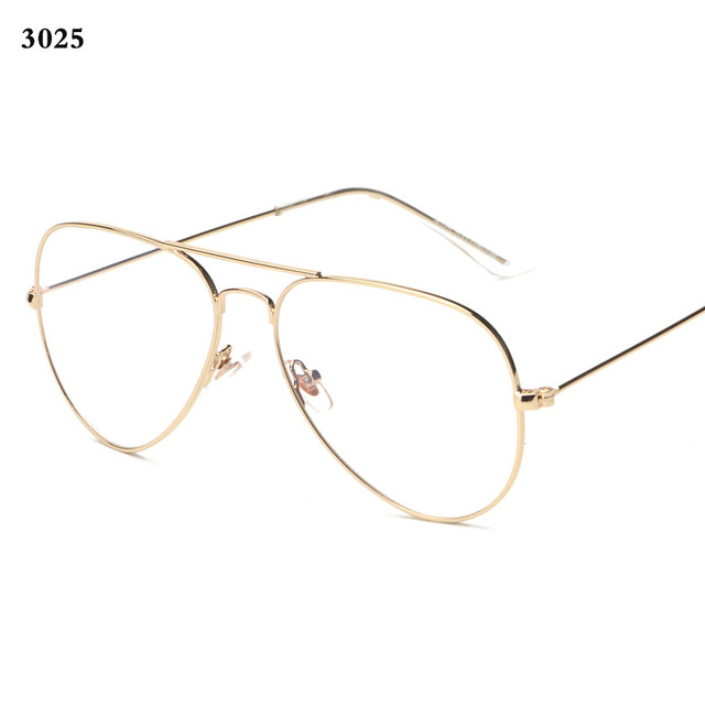31abcd0d748a Brand Mens Eyeglasses Gold Rimmed Glasses 3025 3026 Vintage Eyewear Women  Retro Nerd Glasses Fashion Eyeglass Frame Gafas de ver