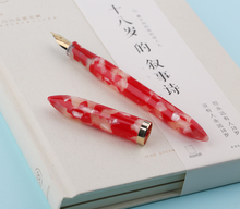 Moonman S1 Kio Fish Red Acrylic Resin Fountain Pen Iridium Extra Fine / Nib 0.38 0.5mm Writing Ink with Gift Box Set