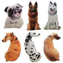 50cm Cute Simulation Dog Plush Toy 3D Printing Stuffed Animal Dog Plush Pillow Stuffed Cartoon Cushion Kids Doll Home Decro Gift