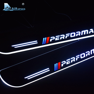 Image 2 - 対気速度 LED ドアシルスカッフプレートガードドア敷居のカー Bmw X5 F15 X6 F16 F20 F21 F30 e90 F10 F11 E60 E70