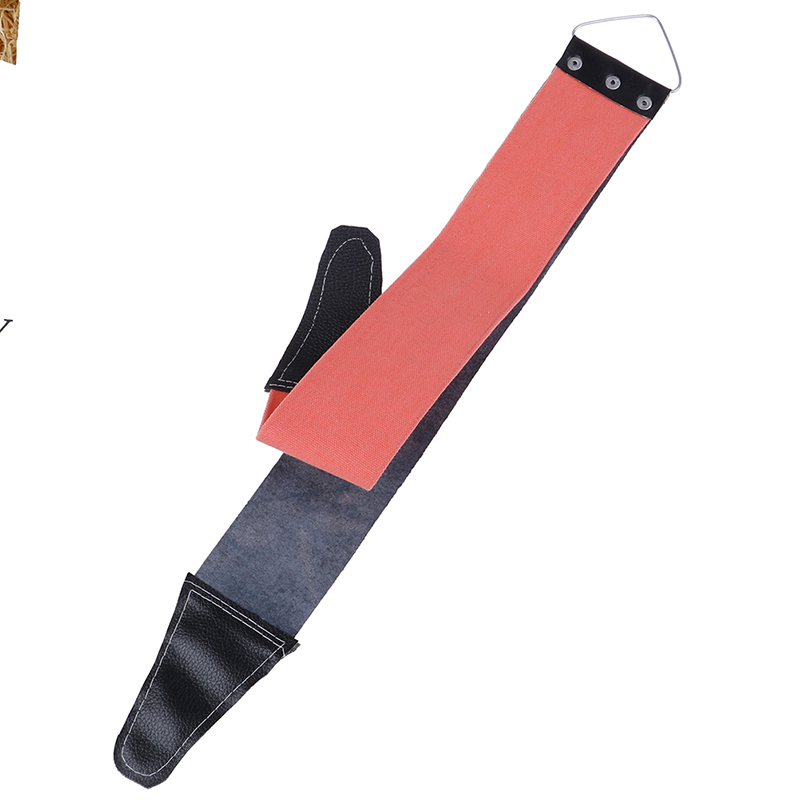 1pc Double Side Available Canvas Leather Sharpening Strop For Barber Open Straight Shave Razor Sharpening Strap Tool