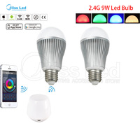 2x 9w Warm Cold White E27 Wifi LED Bulb Mi Light Smart Wifi Controller Groups Control