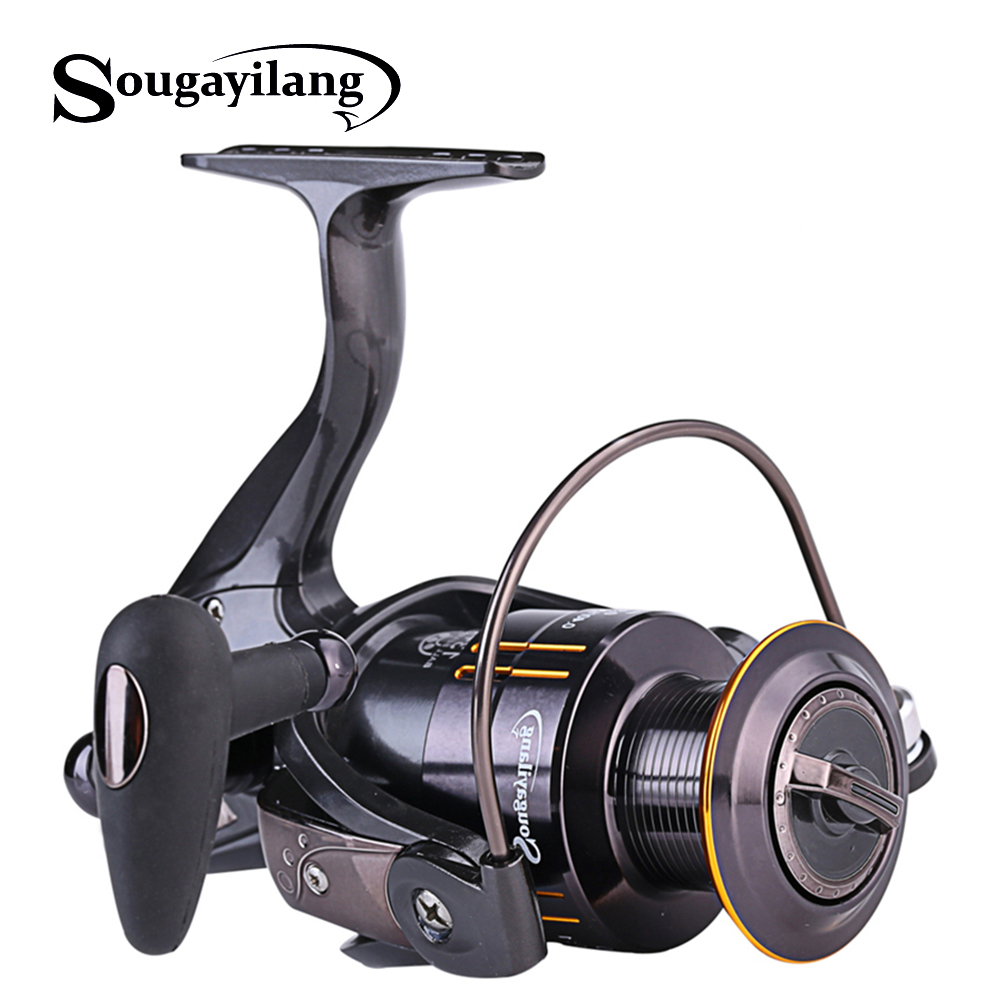 Sougayilang Spinning Fishing Reel  13+1BB Right Left Hand Interchangeable Fishing Reel  2000-5000 Series Fishing Coil  WheelSougayilang Spinning Fishing Reel  13+1BB Right Left Hand Interchangeable Fishing Reel  2000-5000 Series Fishing Coil  Wheel