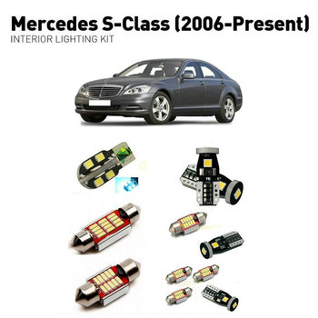 Led interior lights For mercedes s-class 2006+  26pc Led Lights For Cars lighting kit automotive bulbs Canbus