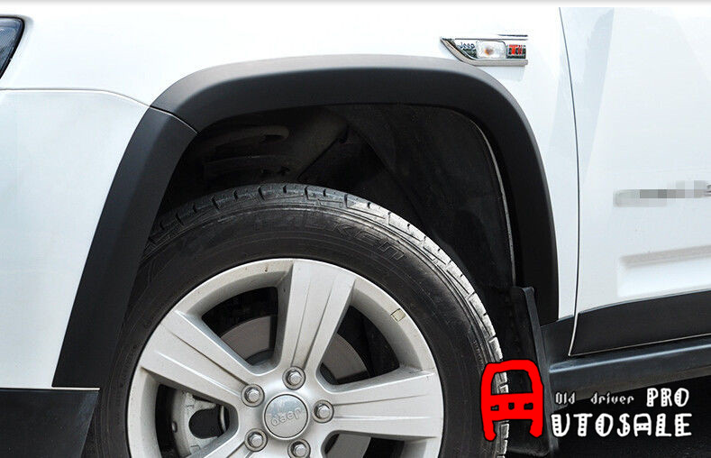 Quality For Jeep Compass 2011 - 2015 Black Fender Flares Wheel Arch Body Door Extension Kits 10pcsQuality For Jeep Compass 2011 - 2015 Black Fender Flares Wheel Arch Body Door Extension Kits 10pcs