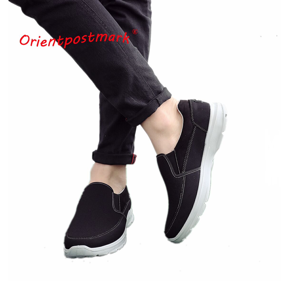 OrientPostMark Spring New Fashion Breathable Canvas Mens Shoes Flats Spring Autumn Quality Casual Canvas Shoes Light Comfortable fashion new spring