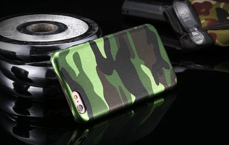 Dla iphone 7 5 5s se case wojskowy kamuflaż mężczyzn skórzane torby telefon sprawach dla iphone 7 7 plus pokrywa dla iphone 6 6s plus 5 5S se 15