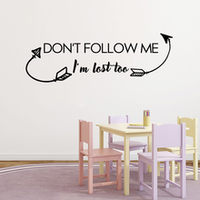 Cartoon dont follow me Vinyl Decals Wall Stickers For Kids Room Decoration