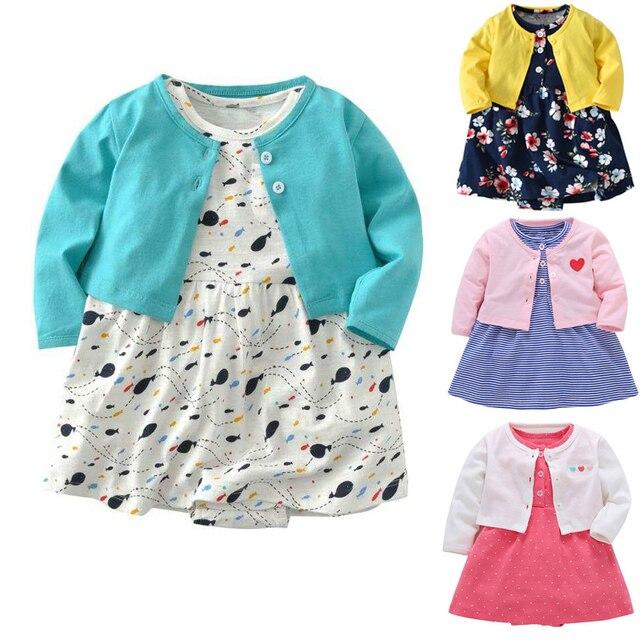 395fcc61126a7 Livraison gratuite nouveau Bebes bébé filles robes ensemble de vêtements 2  pièces (Cardigan à manches