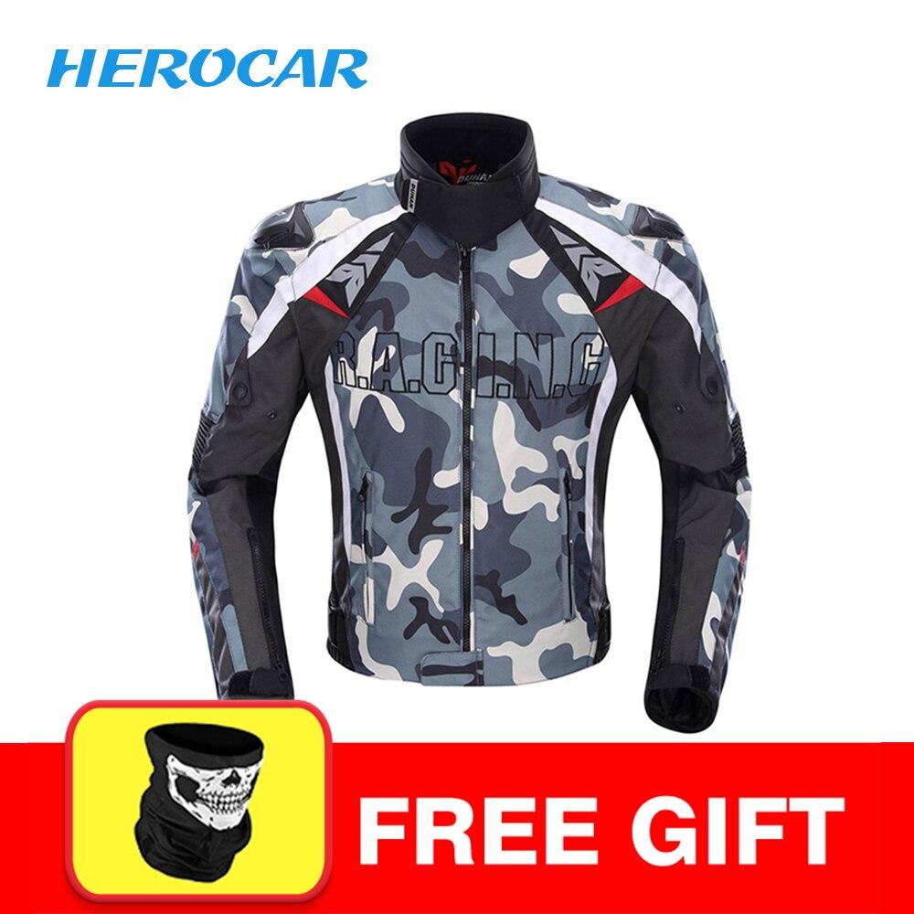 DUHAN Moto veste hommes Motocross Moto veste vêtements Camouflage alliage épaule protecteur Moto veste de protection