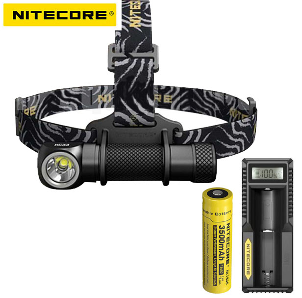 Nitecore HC33 CREE XHP35 High Performance LED Headlamp +nitecore 18650 battery +nitecore UM10 charger nitecore hc33 1800lumen headlamp um10 charger 18650 rechargeable battery headlight waterproof flashlight outdoor camping travel