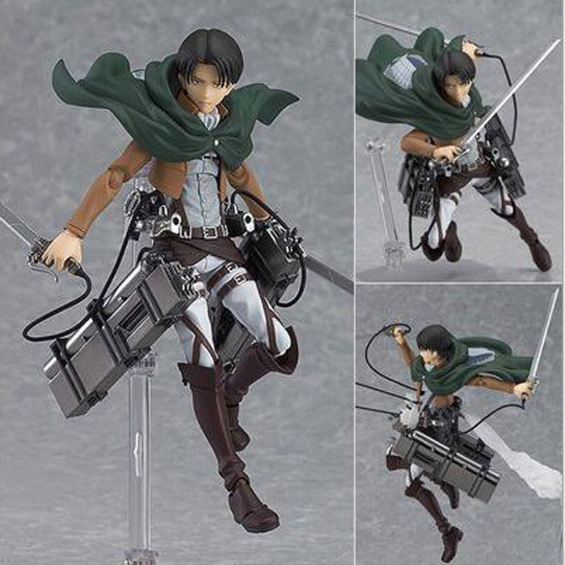 Attack on Titan Shingeki Kyojin Rivaille 213 Boxed PVC Action Toy Figures Model Collection Toy 6