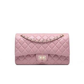 Camelia Shoulder Bag Genuine Lambskin Leather Celebrity Bag