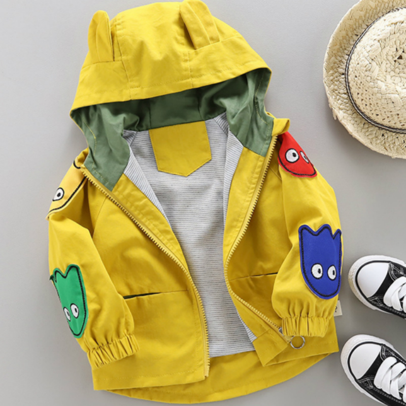 Boy Jacket Children's Coat Spring Autumn New Cute And Male Cartoon 1-5Y Shirt