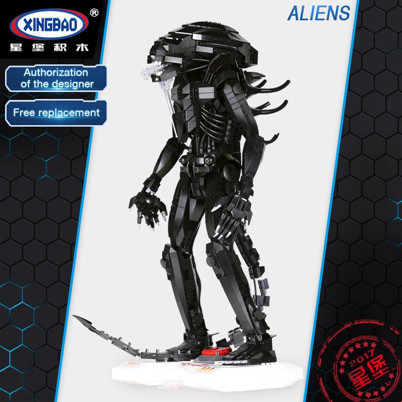 XingBao 04001 2020  Echte Kreative Film Serie Die Alien Roboter Set kinder Educational Building Blocks Bricks Spielzeug Mo салфетка бытовая хозяюшка мила 04001 мила 04001