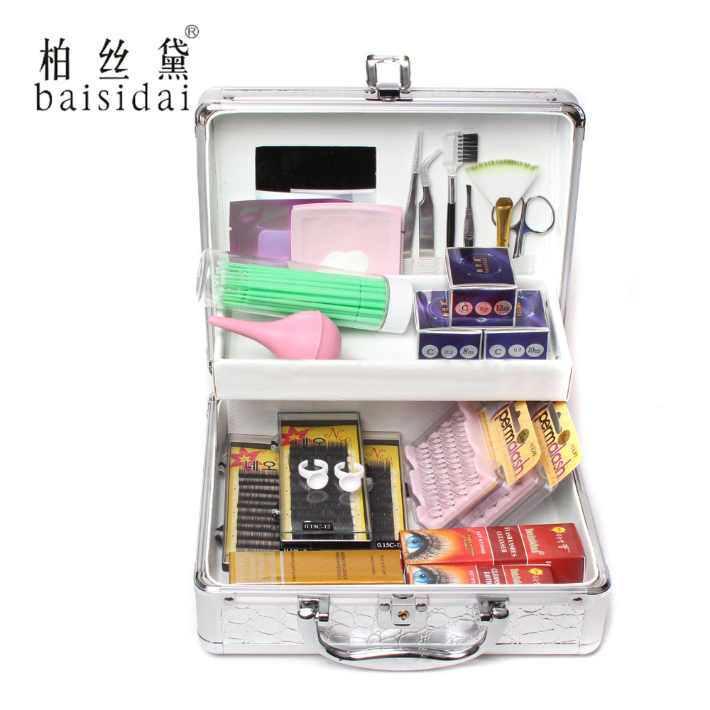 ФОТО 1 Box False Lashes Extension Eyelash Micro Brush Glue Cleanser Full Tools Kit Include Glue Holder Ring ,Tweezers, Air Pump