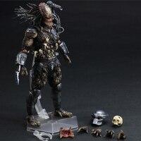 28cm Predator Play Arts Kai Arnold Schwarzenegger Predator 2 Movie PVC Action Figures toys Anime figure Toys For Kids children